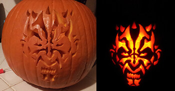 Darth Maul Pumpkin