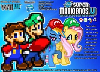 New Super Mario Bronies Wii U - MLP FiM Edition Wallpaper