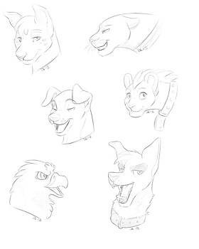 $3 head shot sketches
