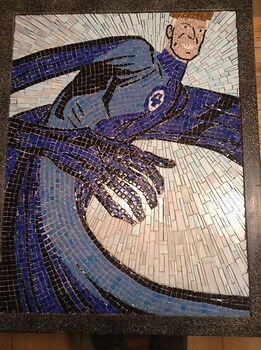 Mr. Fantastic stained glass tile mosaic
