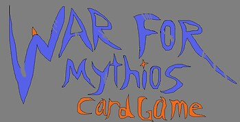 War for Mythios card game logo