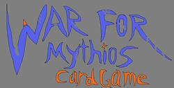 War for Mythios card game logo
