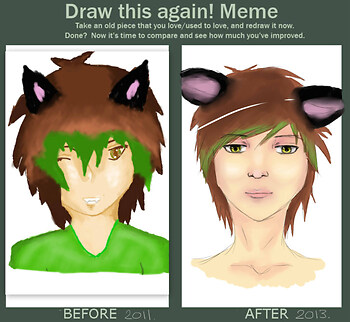 Before and after meme!