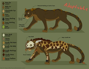 Feline Adoptable -Comes with Reference Sheet-
