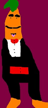 A Tall Muppet Carrot MS Paint