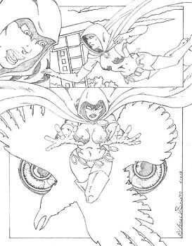 Teen Titan: Raven the Enigma (pencil)