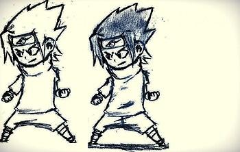 chibi sasuke sketch