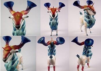 Yoggy Ram Sculpture