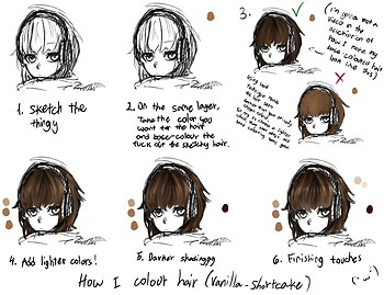 How I colour hair
