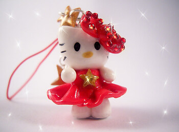 Red Hello Kitty Charm