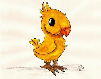 Chocobo-chick Speedpaint