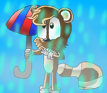 Art trade: Lenny in da rain