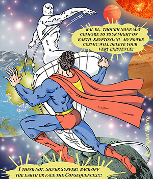 Guess Who's Coming To Dinner? Superman vs. The Silver Surfer