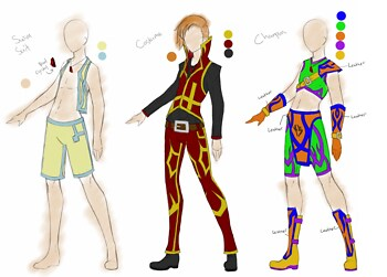 Haruki - 3 outfit designs