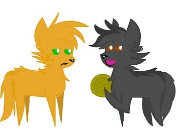 Graystripe and Firestar in BBBFF form
