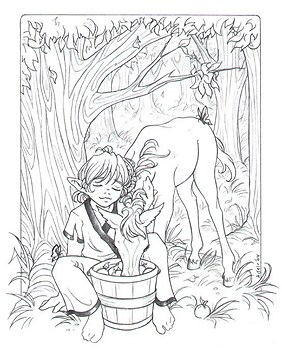 Apple Orchard: Lineart