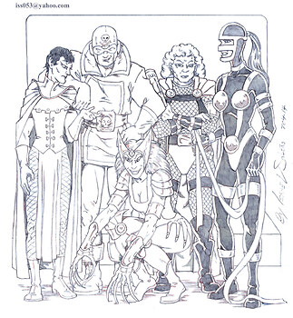 Darkseid's Female Furies (pencil)