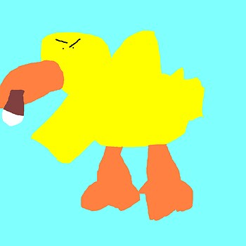 Random Quackers The Angry Beanie Duck With Cigar MS Paint