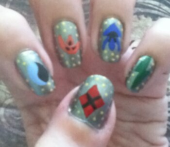 Ronin Warriors nails