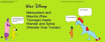 Marsupilami and Maurice meets Wander and Sylvia
