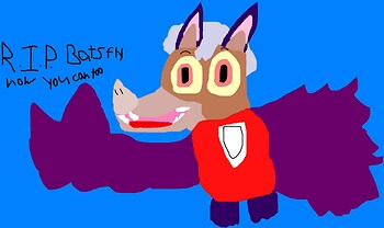 R.I.P. Bats Fly Now You Can Too MS Paint