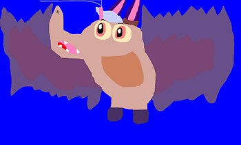 Cute Chubby Chibi Batty Koda MS Paint