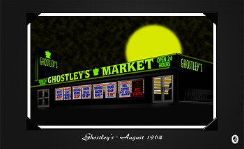 Ghostley's Market - Circa 1964