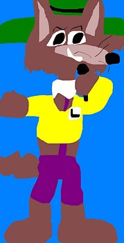 Mildew Wolf In His Laffalympics Outfit MS Paint