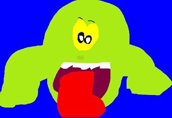 Slimer Is Cute MS Paint^^