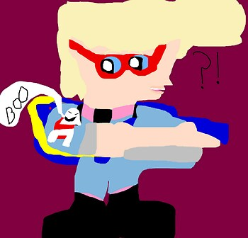 Boo MS Paint Hehe chibi Egon Is Confused MS Paint