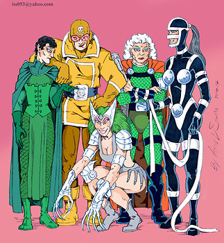 Bernadeth, Stompa, Granny Goodness, Lashina & Mad Harriet