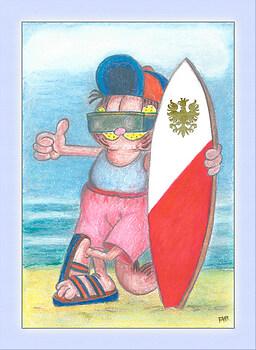 Garfield Surfing