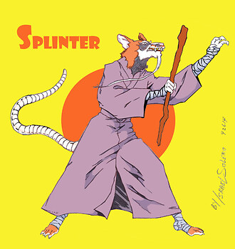 MASTER SPLINTER of The Teenage Mutant Ninja Turtle