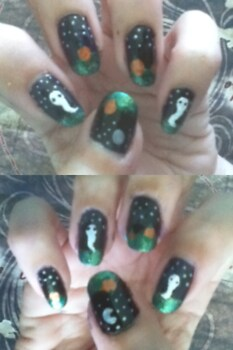 Haunted Pumpkin Patch Manicure