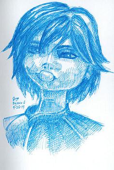 GoGo portrait sketch