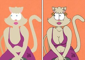 2 in 1 Impressionist Pussycat