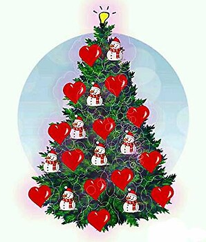 Thinking lovely Christmas tree