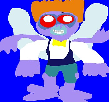 Baxter Stockman 80's Figure Style With Toon Vest MS Paint