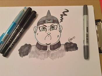 Android 19- DBZ Kai (Inked Sketch)