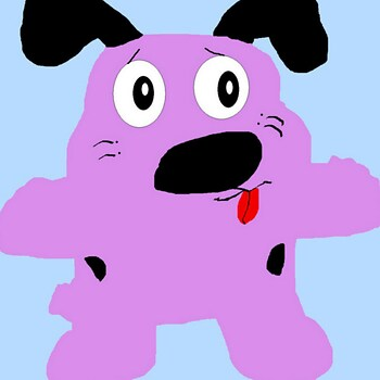 Courage The Cowardly Dog Plush Request MS Paint^^