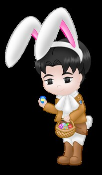 Levi easter bunny colored