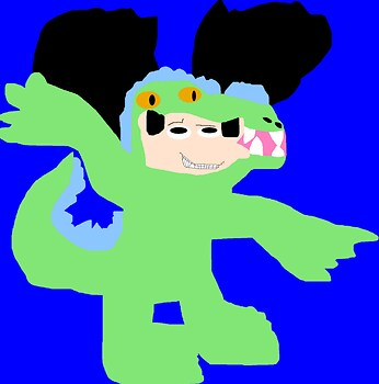 Noodman In Reptar Costume MS Paint