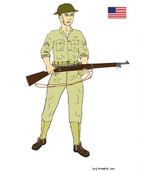 American soldier early Pacific war Phillipines