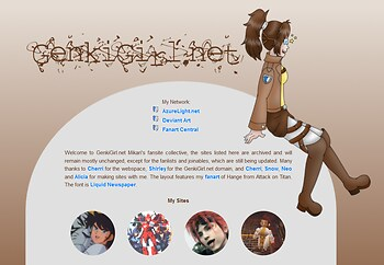 Genki Girl net Hange (Attack on Titan) layout