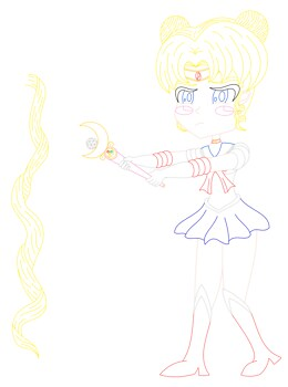 I have a wand (Sailor Moon) [lineart]