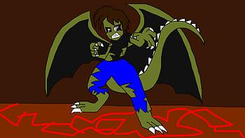 Dragon Crocodile Demon Transformation