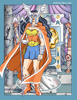 The Amazob Queen; Wonder Woman (clr)