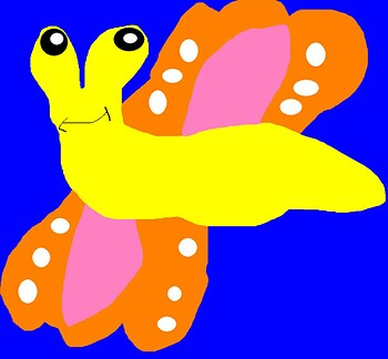 Random Banana Sluggerfly MS Paint