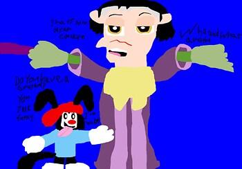 Wakko Annoying Cedric MS Paint