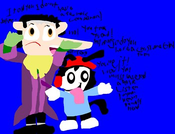 Wakko Is Cedric's Inner voice Guide I Guess It's Random MS Paint